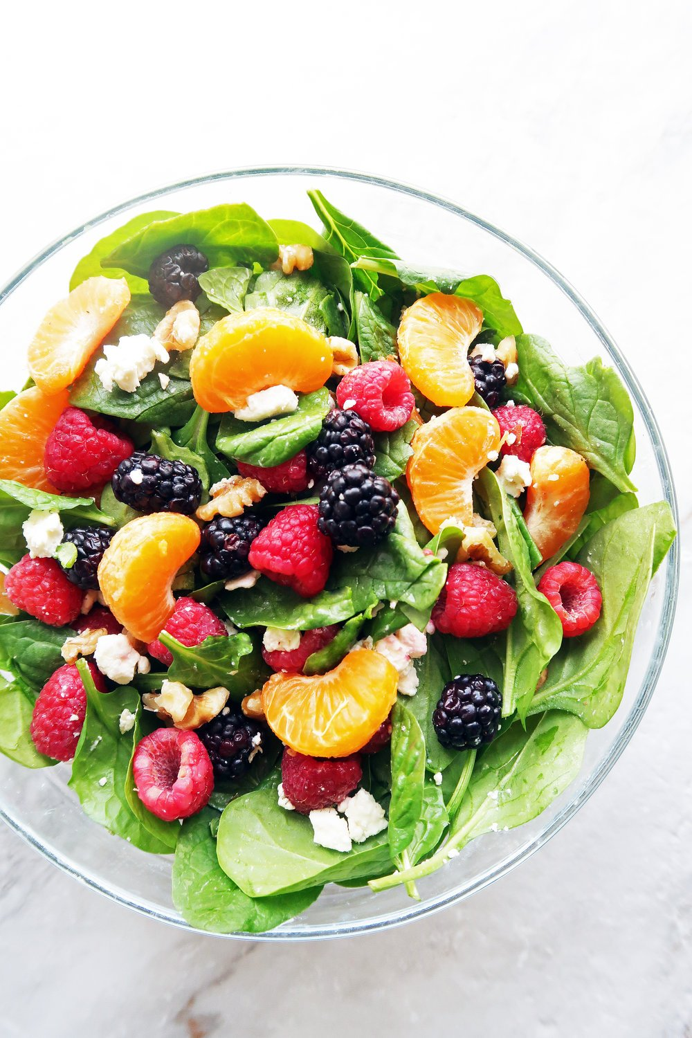 Citrus Berry Spinach Salad with Balsamic Vinaigrette